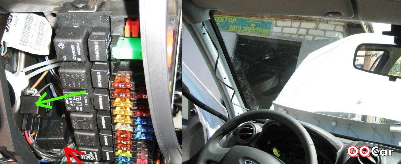 Установка сигнализации на авто  гранта