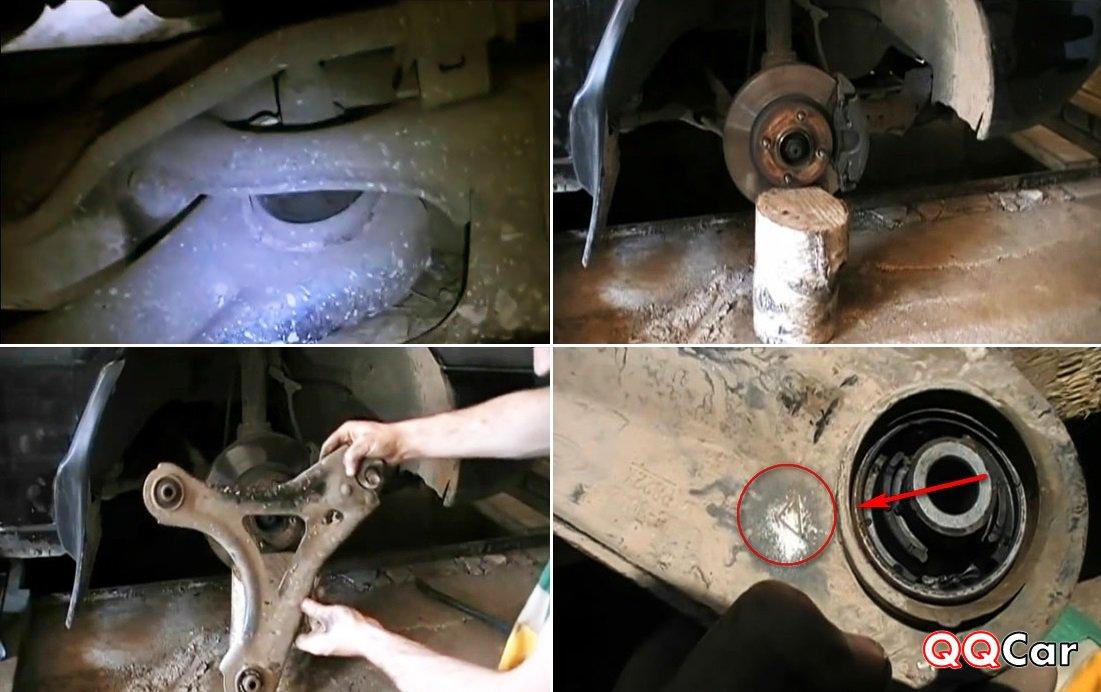 Износ переднего сайлентблока рычага форд