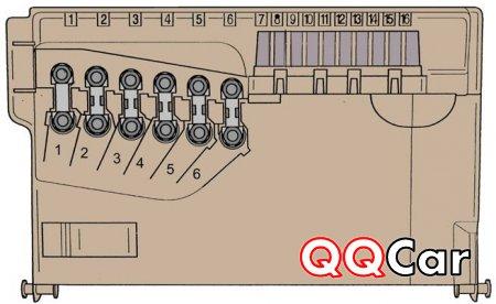 Схема, снятие и установка блока предохранителей автомобиля, skoda, fabia